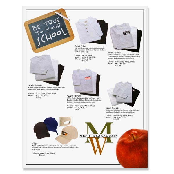 Men's Clothing Direct Mail Advertising, Direct Mail