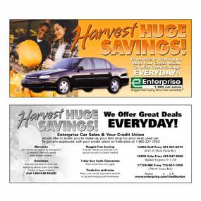 Enterprise Car Sales direct mail advertising  Direct Mail
