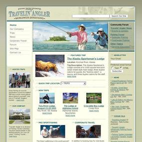 Fishing Travel Web Site Design Fly Fishing Travel  Fly Fishing custom e commerce solution Web Design