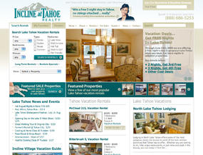 Incline at Tahoe Realty  Web Design