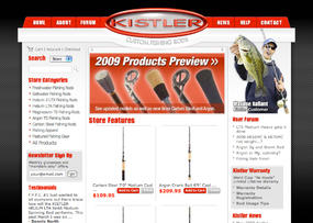 Fishing Products E Commerce Site Development custom fishing rod custom e commerce solution Web Design