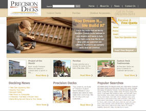 Precision Decks  Web Design