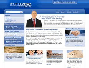 Thomas Rose Attorney  Web Design